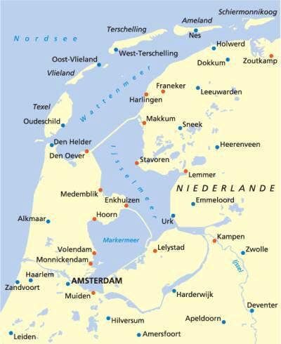 holland karte strand